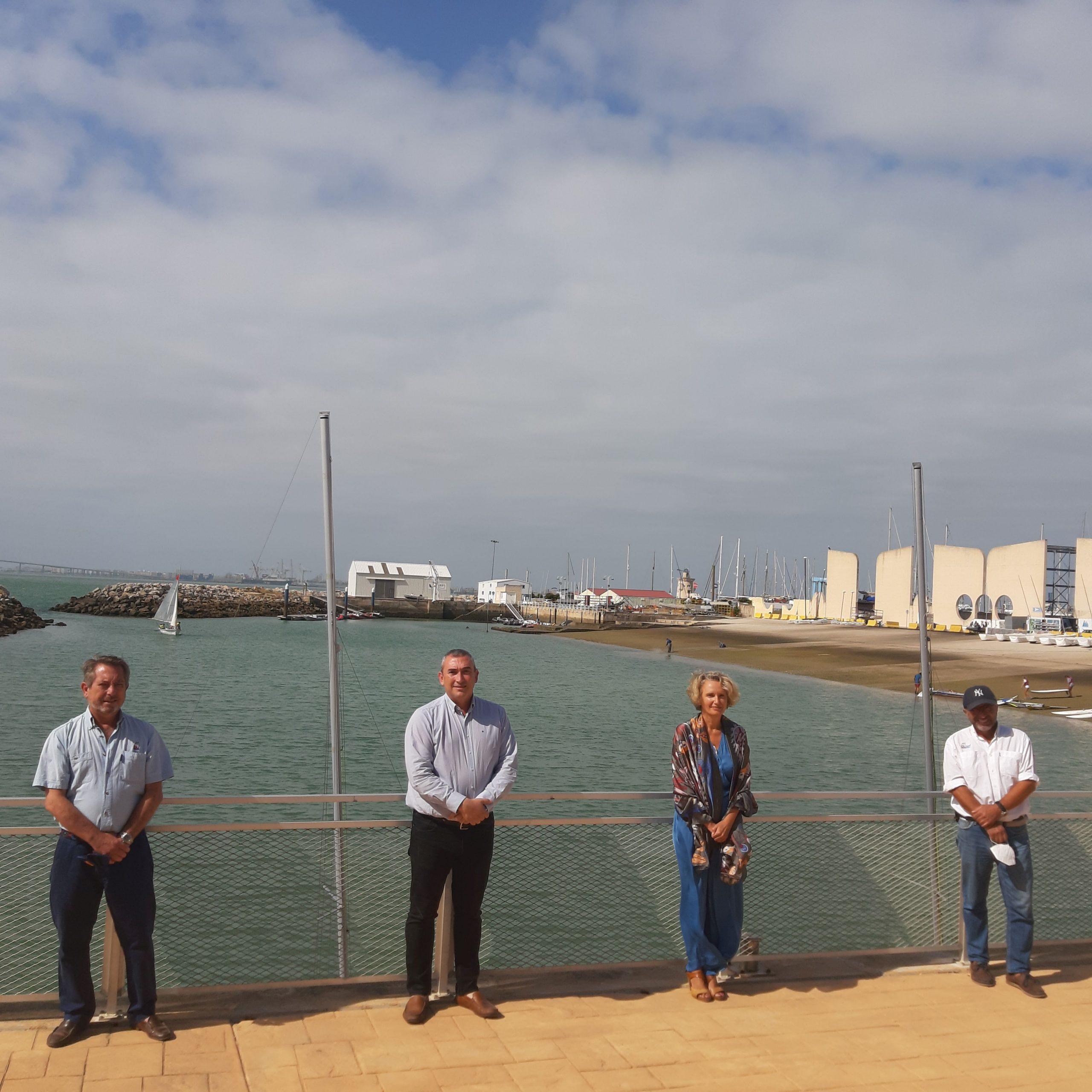 Junta Y Ayuntamiento Escenifican Su Apuesta Por La Vela Con Su Visita Al CETDV.